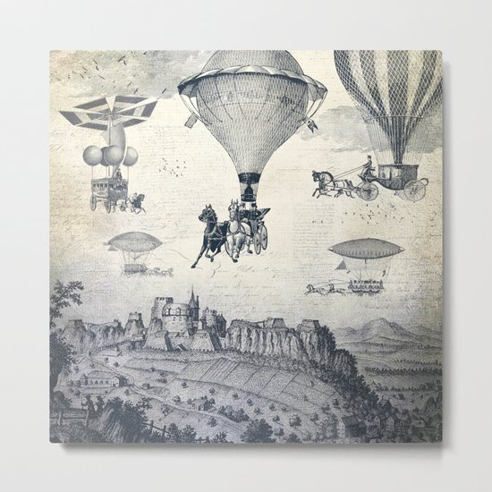 Carrilloons over the City Metal Print