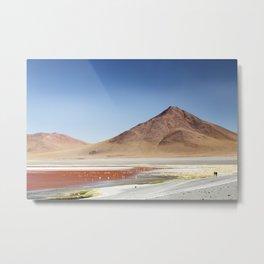 Red Lake in Bolivia Metal Print