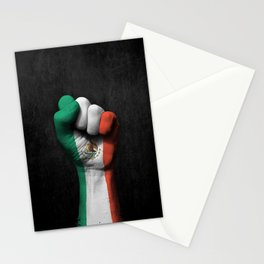 Mexican Flag on a Raised Clenched Fist Stationery Cards