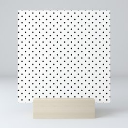 Minimal - Small black polka dots on white - Mix & Match with Simplicty of life Mini Art Print