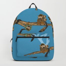 Squirrel Monkeys and Babies in Trees Pattern Backpack