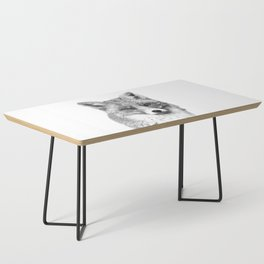 Black and White Fox Coffee Table