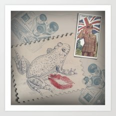 UK Toad Smack Art Print