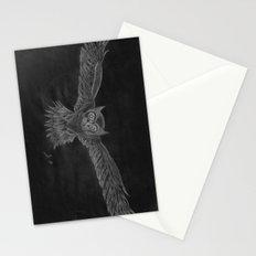 Owl sketch inverted Stationery Cards