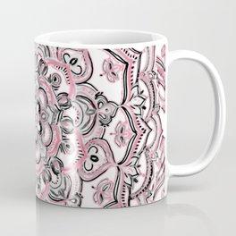 Magical Mandala in Monochrome + Pink Coffee Mug