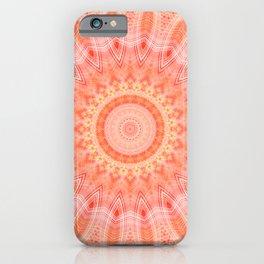 Mandala soft orange 2 iPhone Case