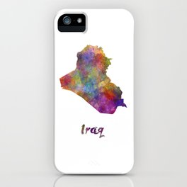Iraq in watercolor iPhone Case