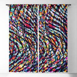 Wavy Lines Low Poly Geometric Triangles Blackout Curtain