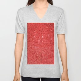 Hilo Rojo. Fashion Textures Unisex V-Neck
