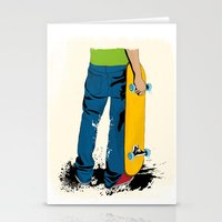 skate Stationery Cards featuring skate by the lazy pigeon