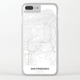 San Francisco, United States Minimalist Maps Clear iPhone Case