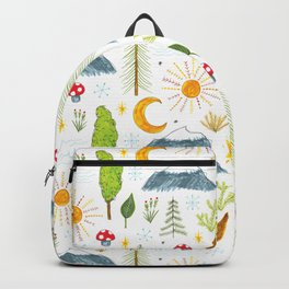 mountains and trees Backpack