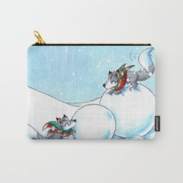 Snowman Building Carry-All Pouch