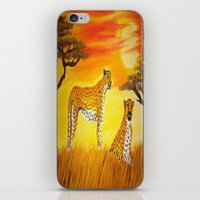 tigers iPhone & iPod Skins featuring Tigers Sun by ArtSchool
