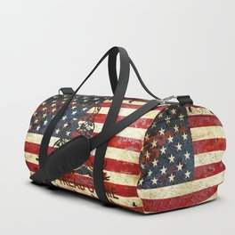 Don't Tread on Me - American Flag And Gadsden Flag Composition Duffle Bag
