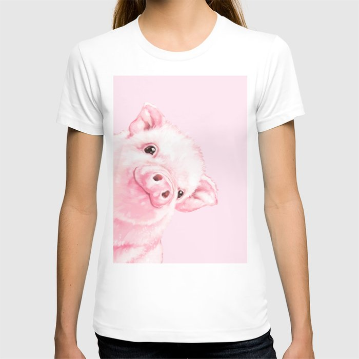 Sneaky Baby Pink Pig T-shirt