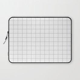 grey white grid Laptop Sleeve