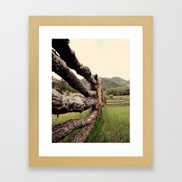 Colorado, fence, color Framed Art Print