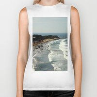 rowing Biker Tanks featuring Torquay Heads - Rowing Regatta - Australia by Chris' Landscape Images & Designs