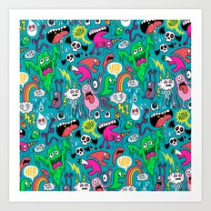 Monster Party Art Print