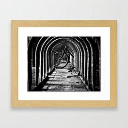 The Bike Rack Framed Art Print