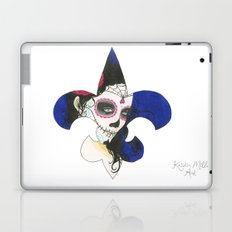 Fleur De Lis Día de los Muertos (Day of the Dead) Laptop & iPad Skin