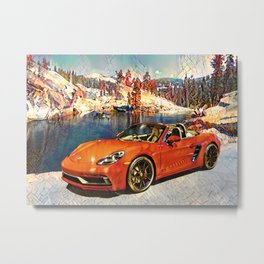Travel In Style Collection - IIB Metal Print