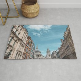 English Street Scene with St Paul's Cathedral Rug