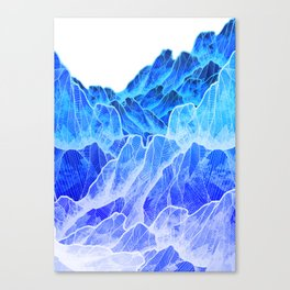 The cold mountain sea Canvas Print