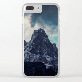 Magic mountain sunset Clear iPhone Case