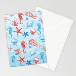 Marine Pattern 09 Stationery Cards