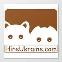 ukraine Canvas Prints featuring Hire Ukraine! by Earth Metal Comics