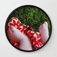 feet Wall Clocks featuring Feet by Cristina Serrano