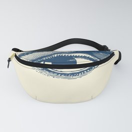 I see you. Navy Blue on Cream Fanny Pack