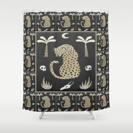 African Tribal Pattern No. 111 Shower Curtain