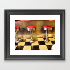 olde time stools Framed Art Print