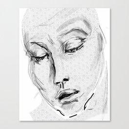 portrait: whispers something tender Canvas Print