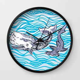 Underwater Best Friends Wall Clock