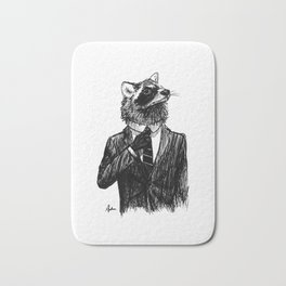 Dapper Raccoon Bath Mat