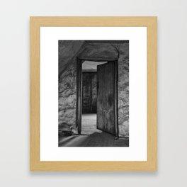 Do come in - mono Framed Art Print