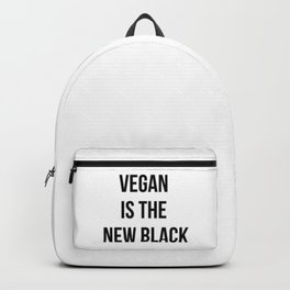 Vegan is the new black T-Shirt. Go Vegan Backpack