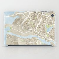 oakland iPad Cases featuring Oakland California Watercolor Map by Anne E. McGraw