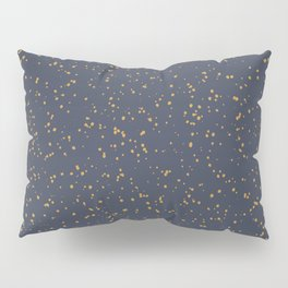 Speckles I: Dark Gold on Blue Vortex Pillow Sham
