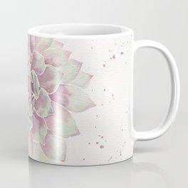 Big Succulent Watercolor Coffee Mug