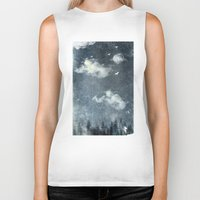 cloud Biker Tanks featuring The cloud stealers by HappyMelvin
