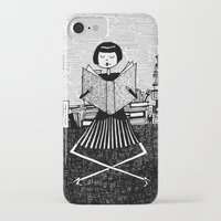 bookworm iPhone & iPod Cases featuring Bookworm by kate gabrielle