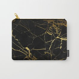 back & gold marble Carry-All Pouch