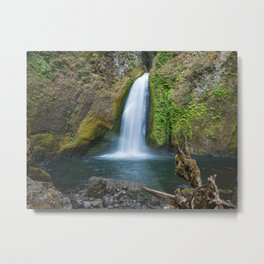 Wahclella Falls in the Columbia River Gorge, Oregon - Taken Same Day the Eagle Creek Fire Started Metal Print
