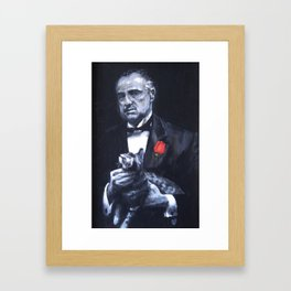 Don Vito Corleone The Godfather Framed Art Print