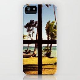Tropical Fiji Beach Scene iPhone Case